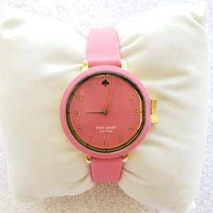kate spade Park row pink silicone strap watch
